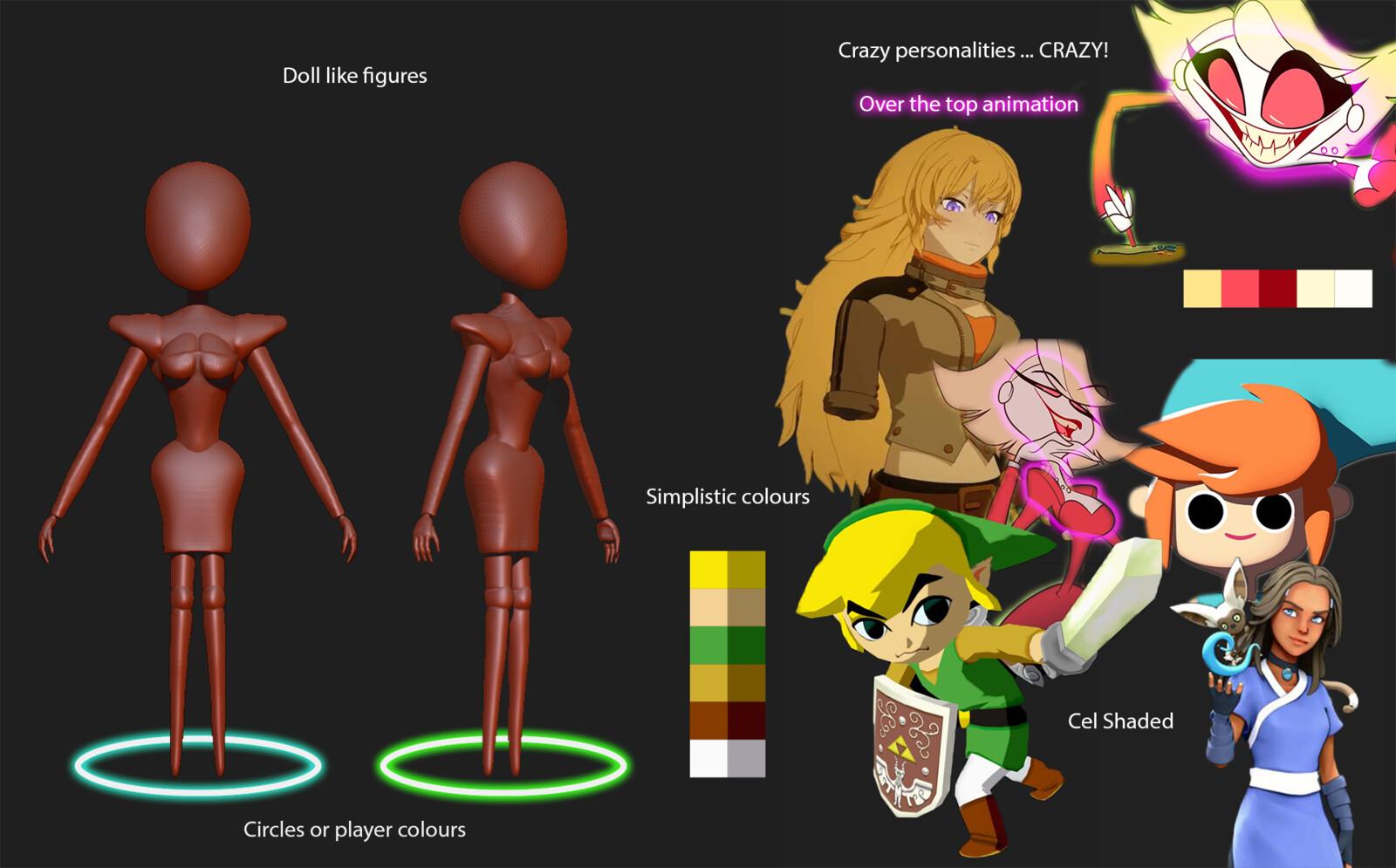 Original Character Design Mood Board (Not my Concept Art)
