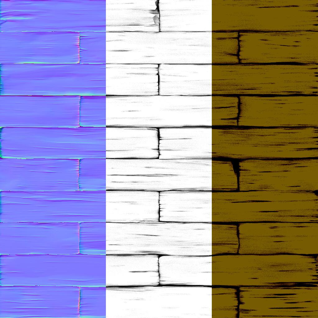 Wood (Original Base Colour Missing)
