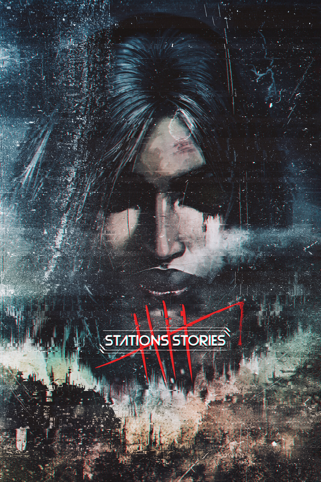 Stations Stories 5 EP Teaser Poster - Glitch Series Premuim Print