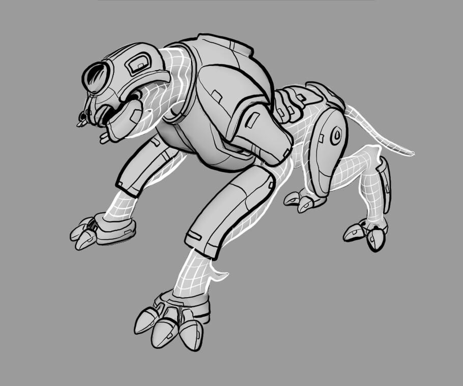 Tron assault bot