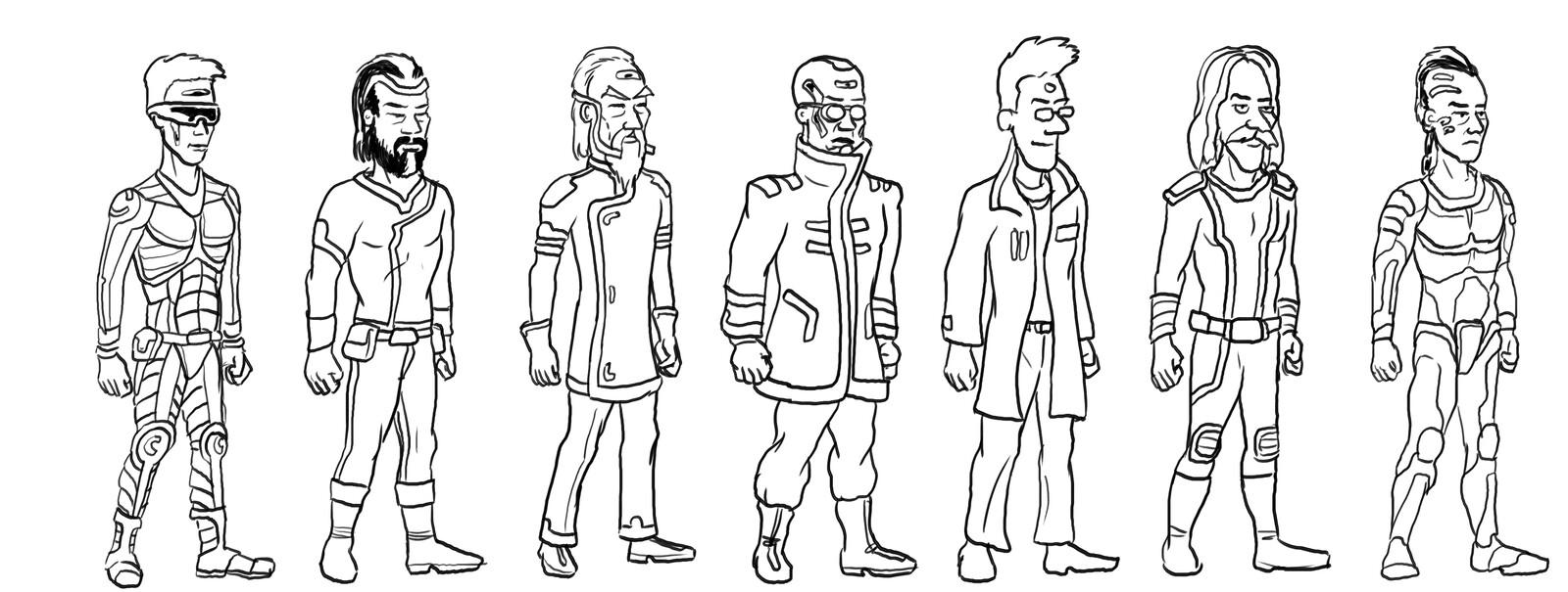 Character design sheet 1