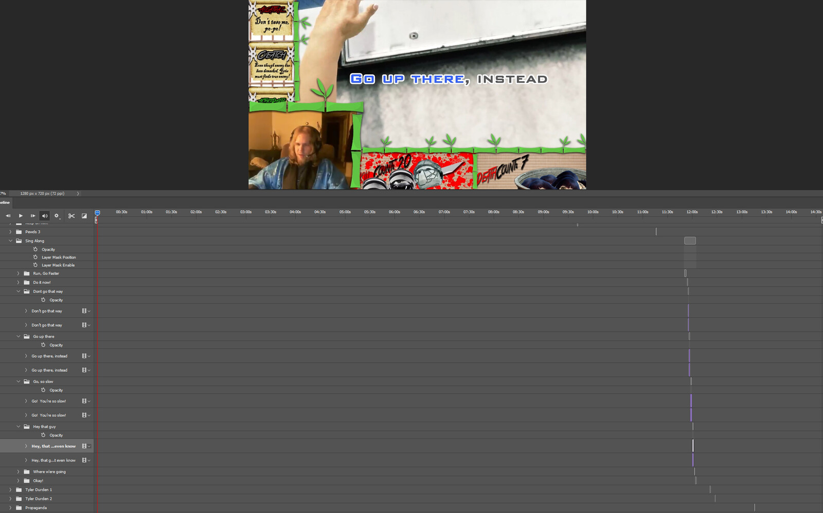 """The """"Sing Along #1"""" visual effect within Photoshop video editor"""