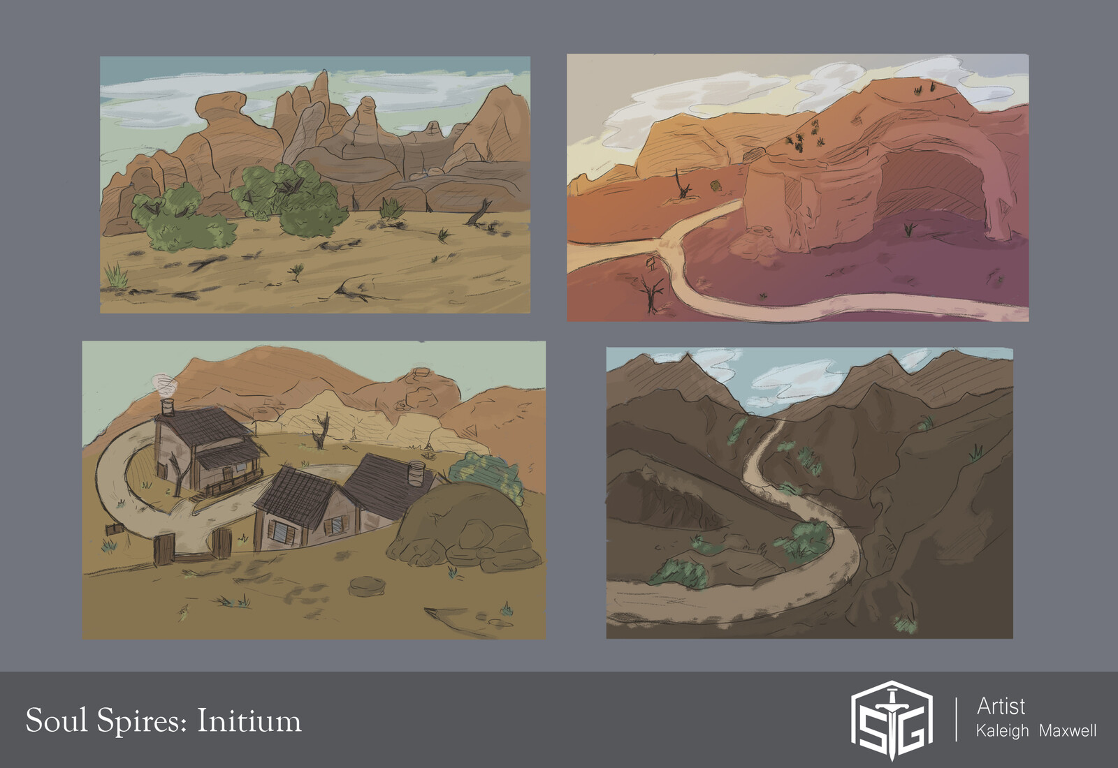 Soul Spires: Initium - Concepts Colored Blocked