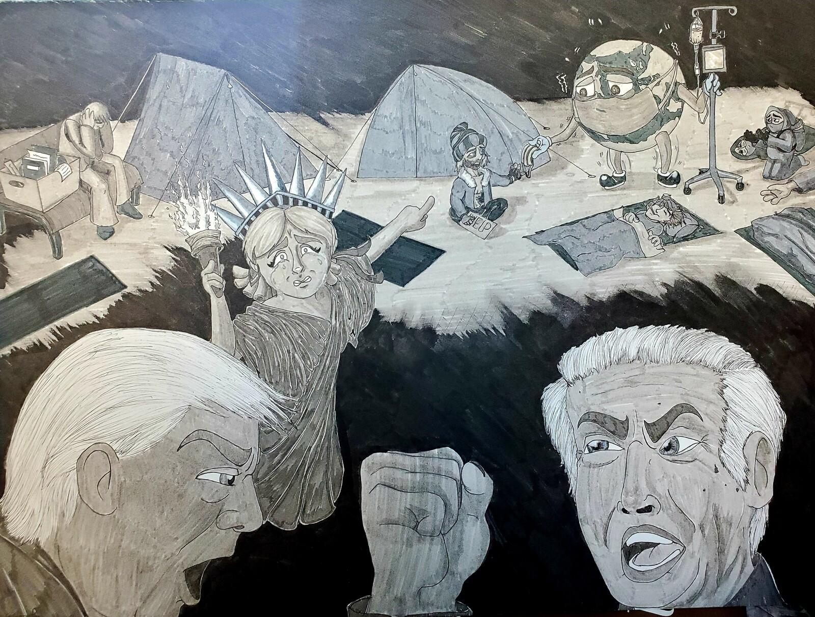 Political cartoon for Illustration