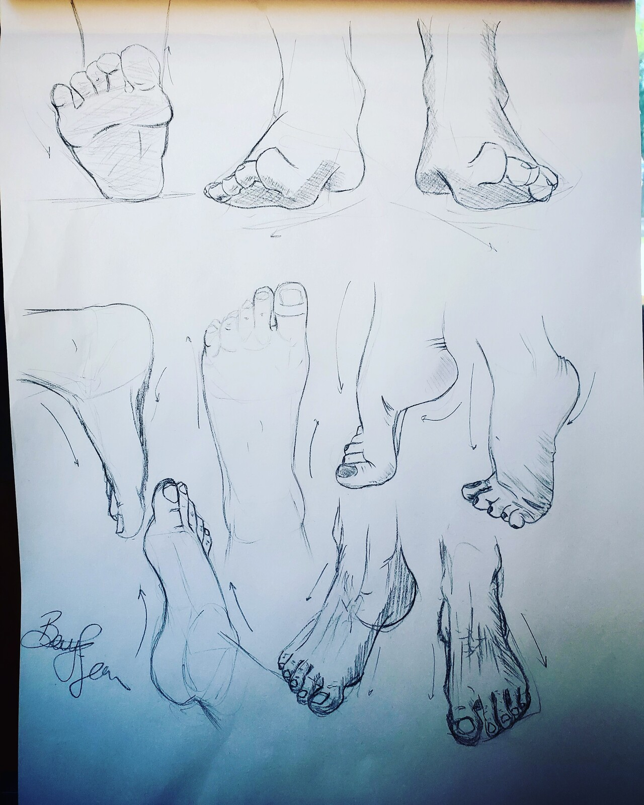 Feet studies
