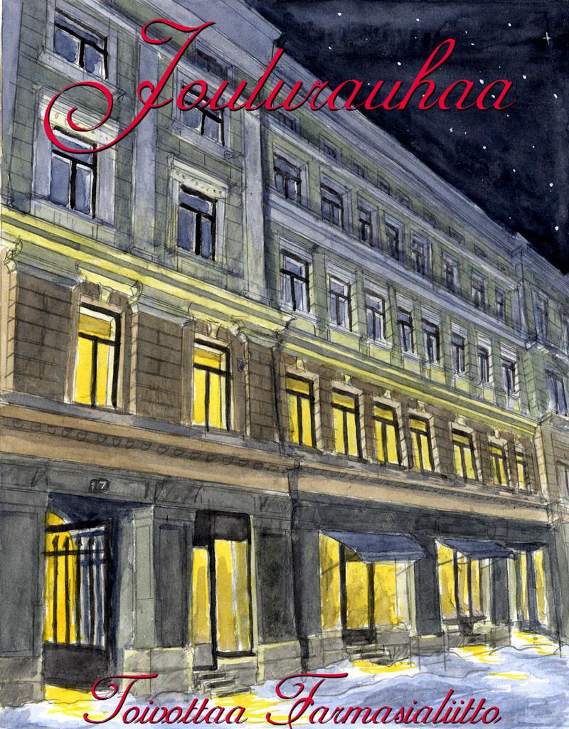 Christmas greeting for Farmasialiitto (2009)
