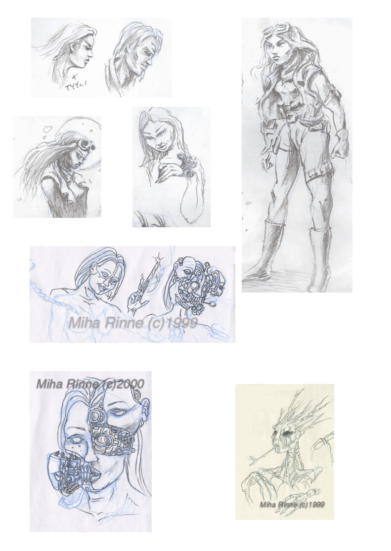 Random design sketches from the old website