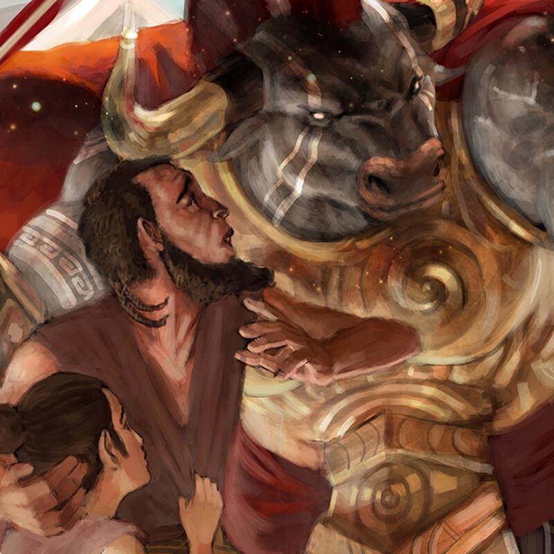 Iokratos, Minotaur Paladin