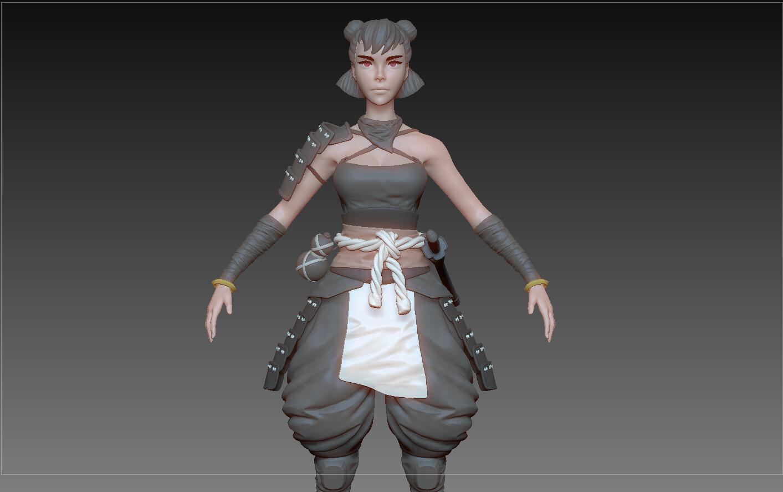 Samurai Girl WIP