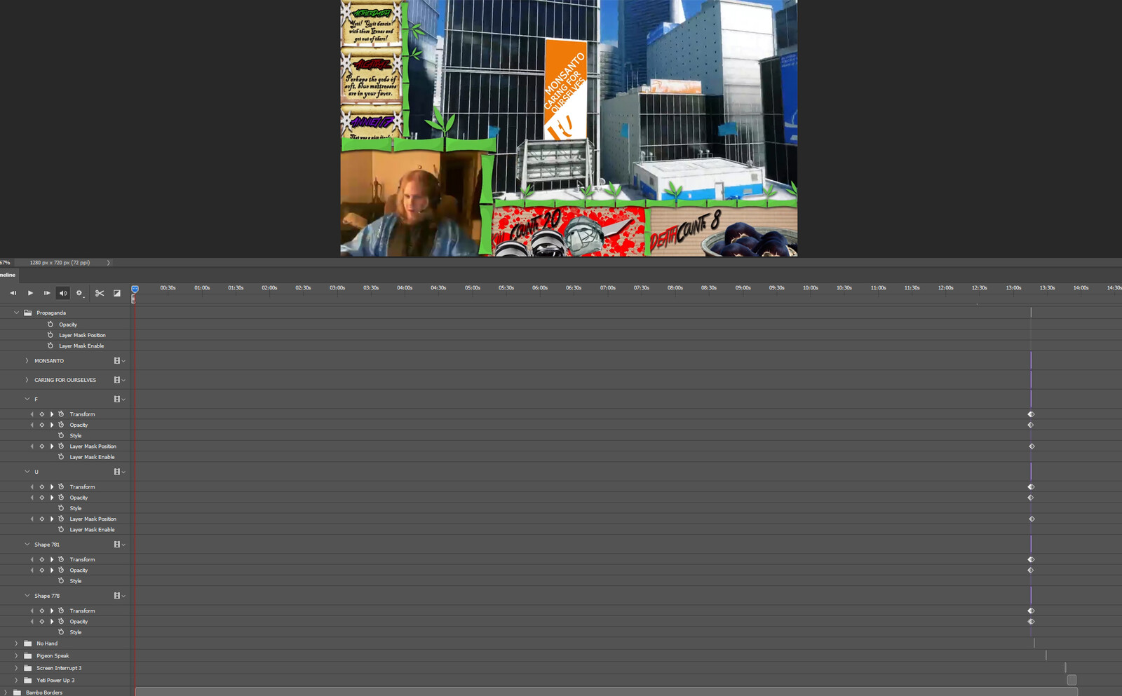 """The """"Propaganda Switch"""" visual effect within Photoshop video editor"""