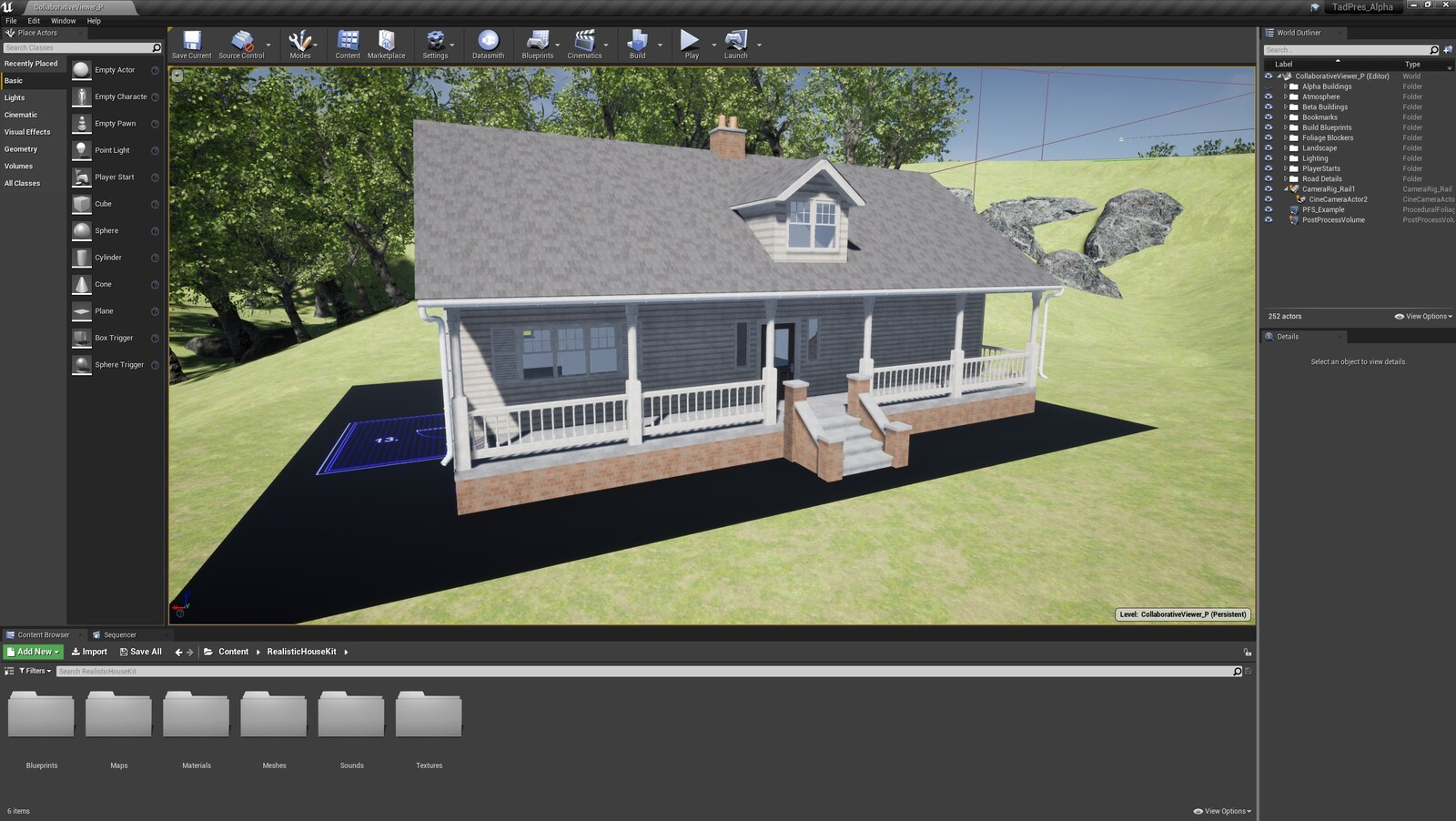 The first angle for the TAD Presentation Farmhouse (Modular Version)