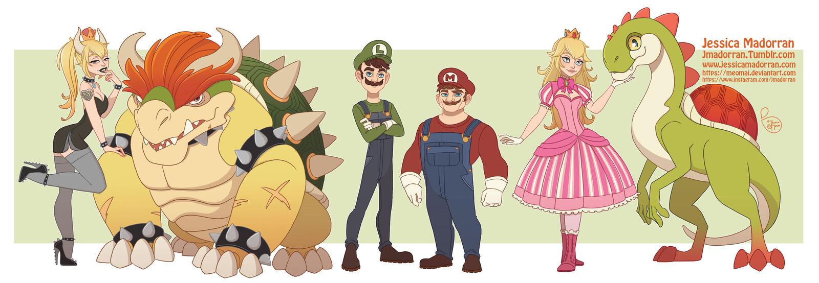 Patreon - Character Line Up - Super Mario Bros Fan Art