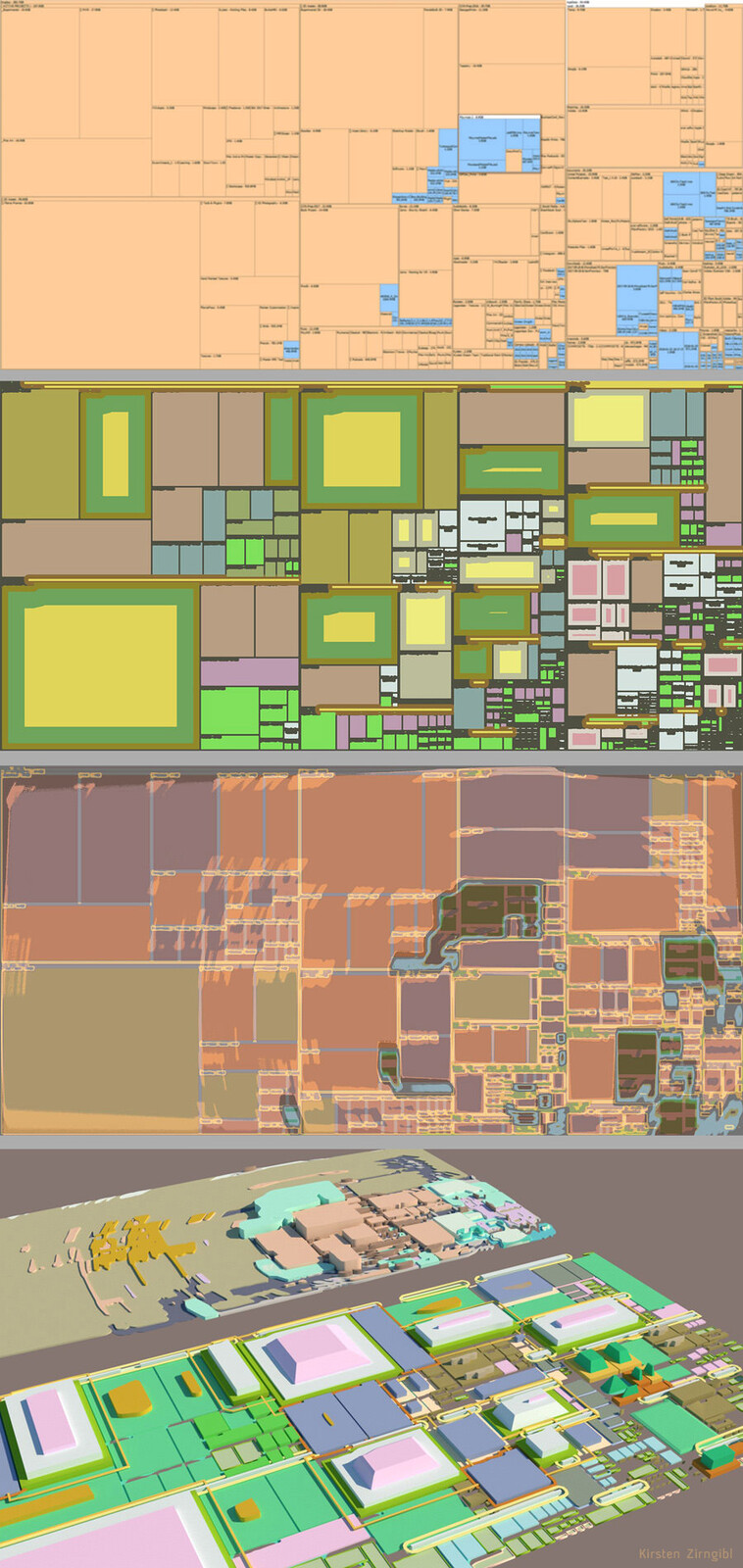 Using my file structure to generate cities.  This was all just using Photoshop actions and vectorizing for import.