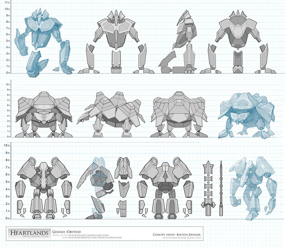 One of the many golem concepts I did for the Heartlands RTS game.