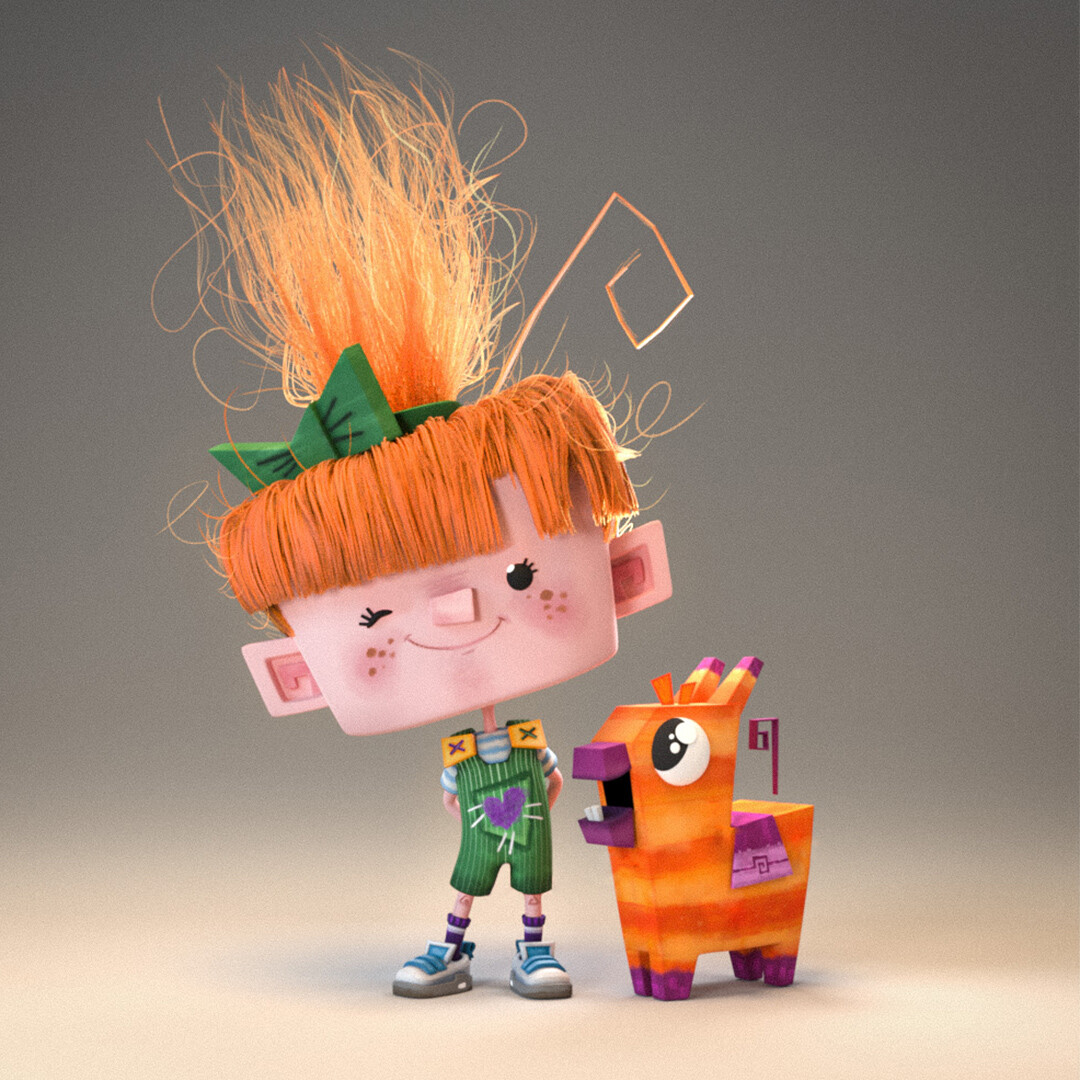 The two main characters Hope and Pinata