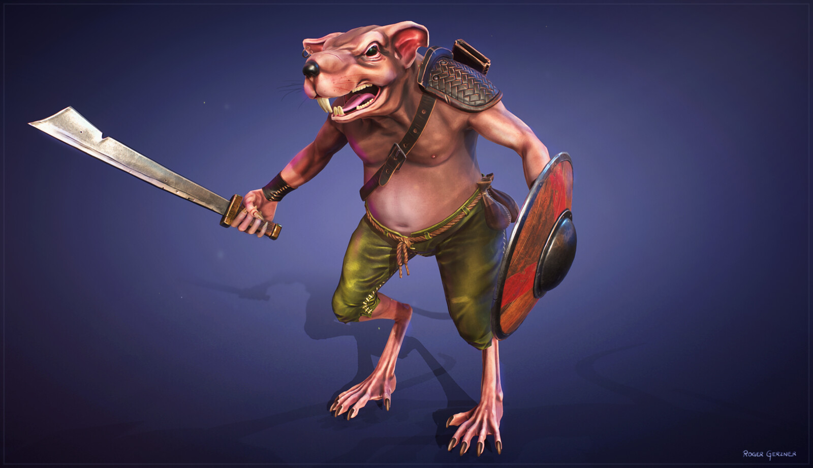 Ratkin Warrior (Wizardry 7 Fan Art)