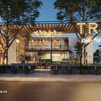 Neohouse architecture thiet ke quan cafe san vuon don gian 10x13m