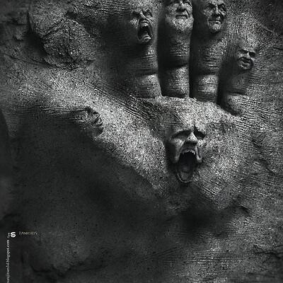 Surajit sen handcuffs digital sculpture surajitsen dec2020abw l