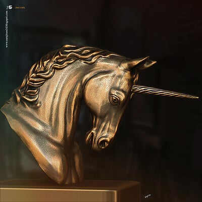 Surajit sen unicorn digital sculpture surajitsen dec2020aa l