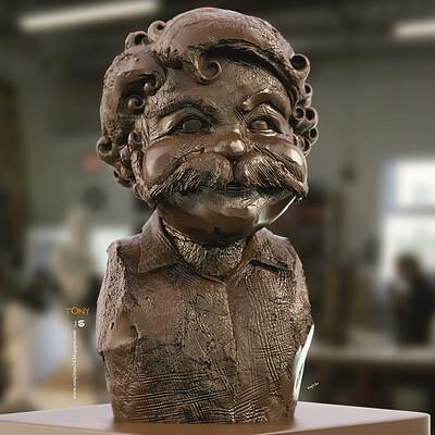 Surajit sen tony digital sculpture surajitsen 10122020a l
