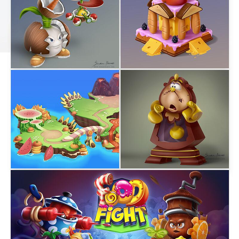 2D game art - Work set 1