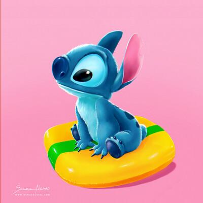 Disney Stitch, daily speed painting