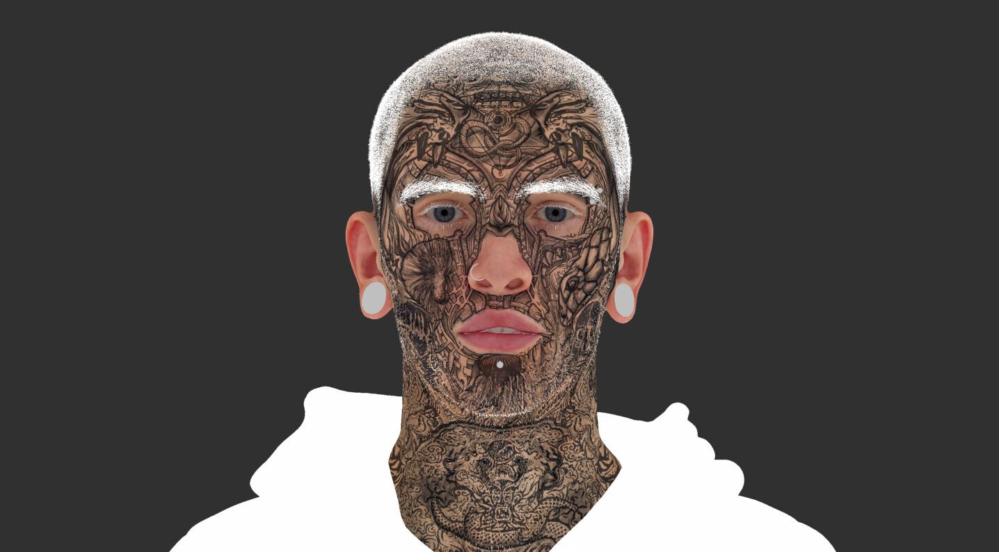 Skin texture albedo