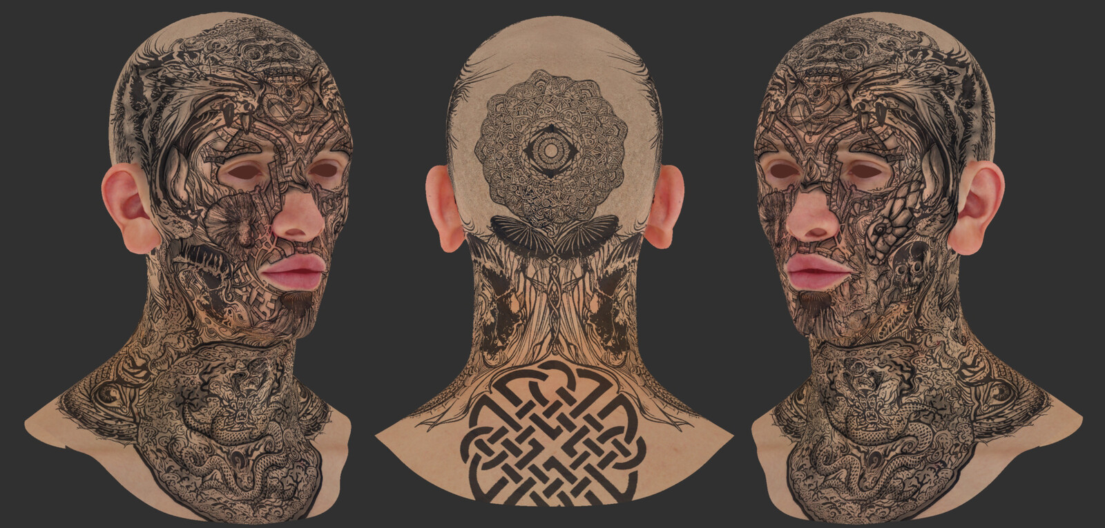 Albedo and tattoos design