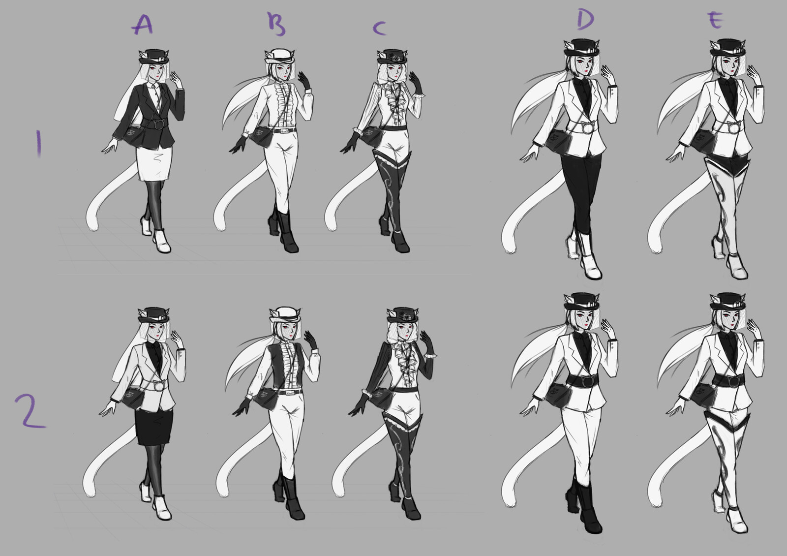 Third pass - outfit variations and values