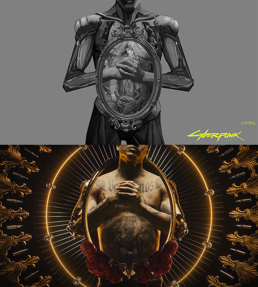 From my Key Frame Illustration to final music video shot comparison #1.
