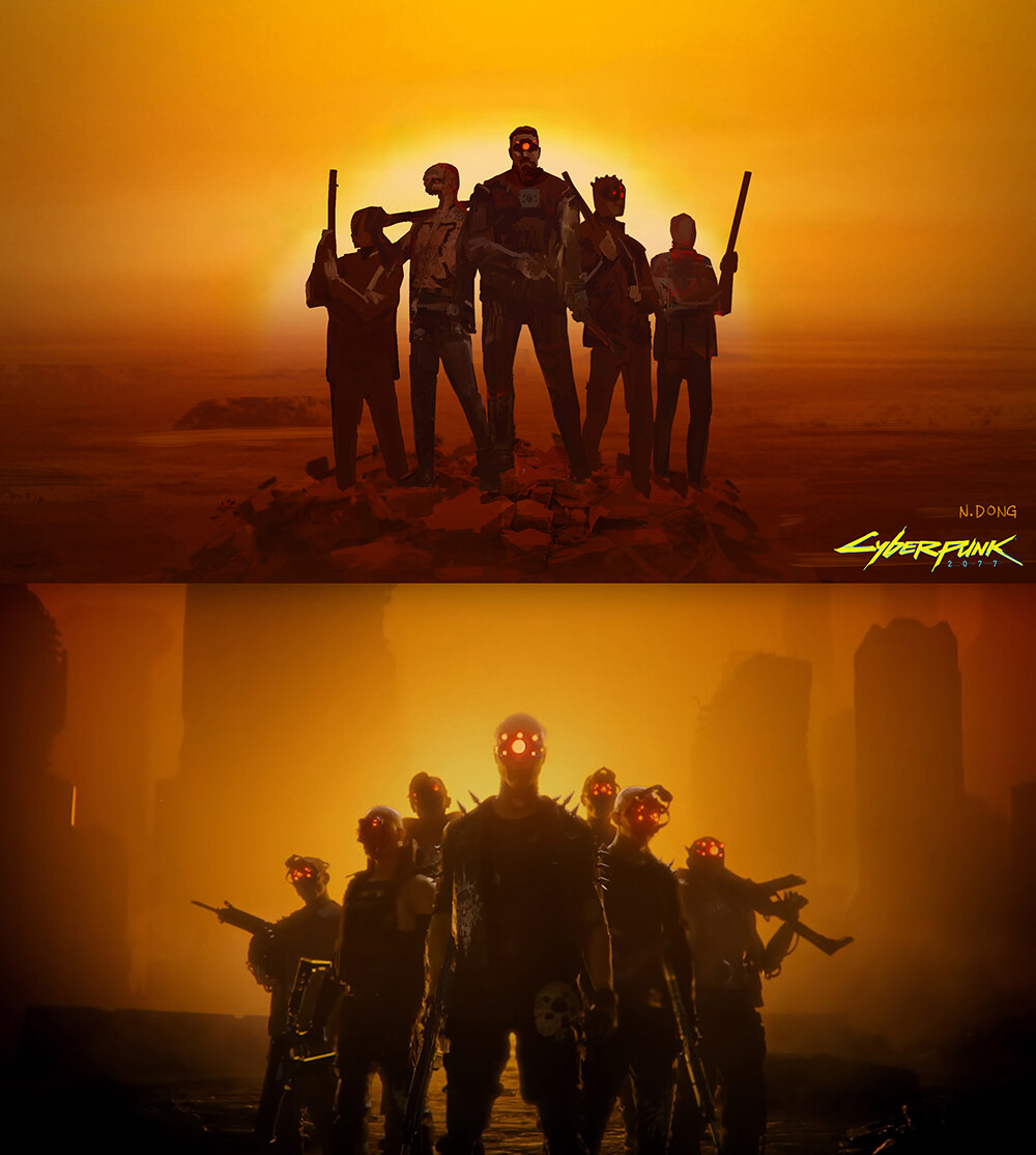 From my Key Frame Illustration to final music video shot comparison #2.