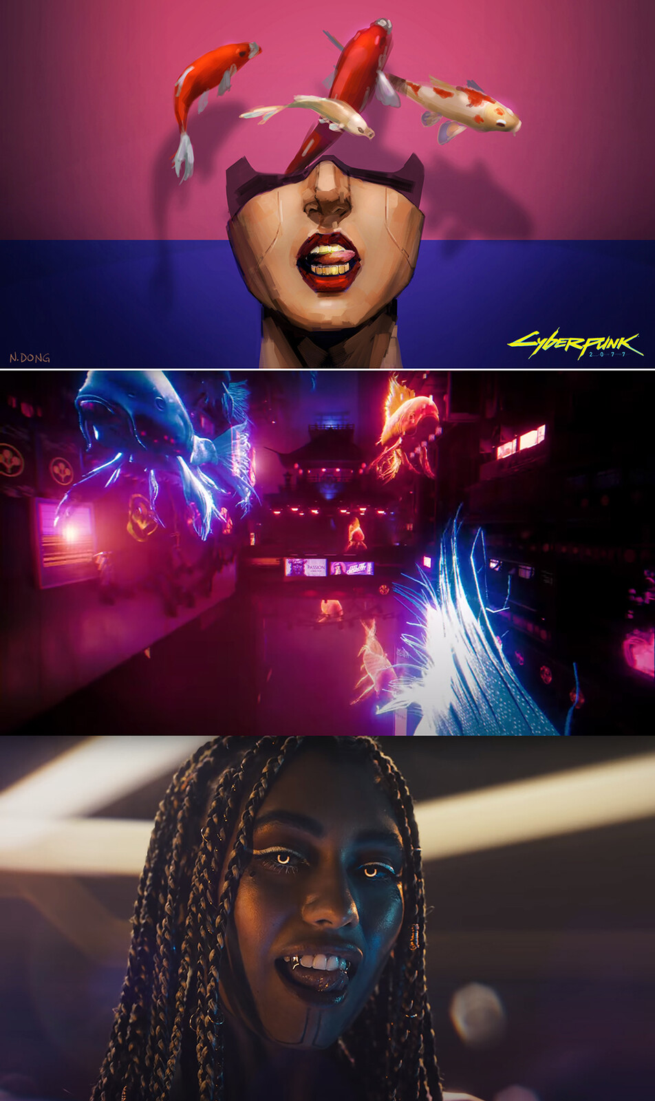 From my Key Frame Illustration to final music video shot comparison #5.  This shot became two separate shots in the video.