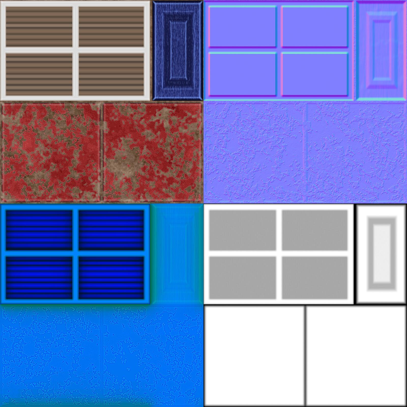 Window/Walkway Trim Texture Flats