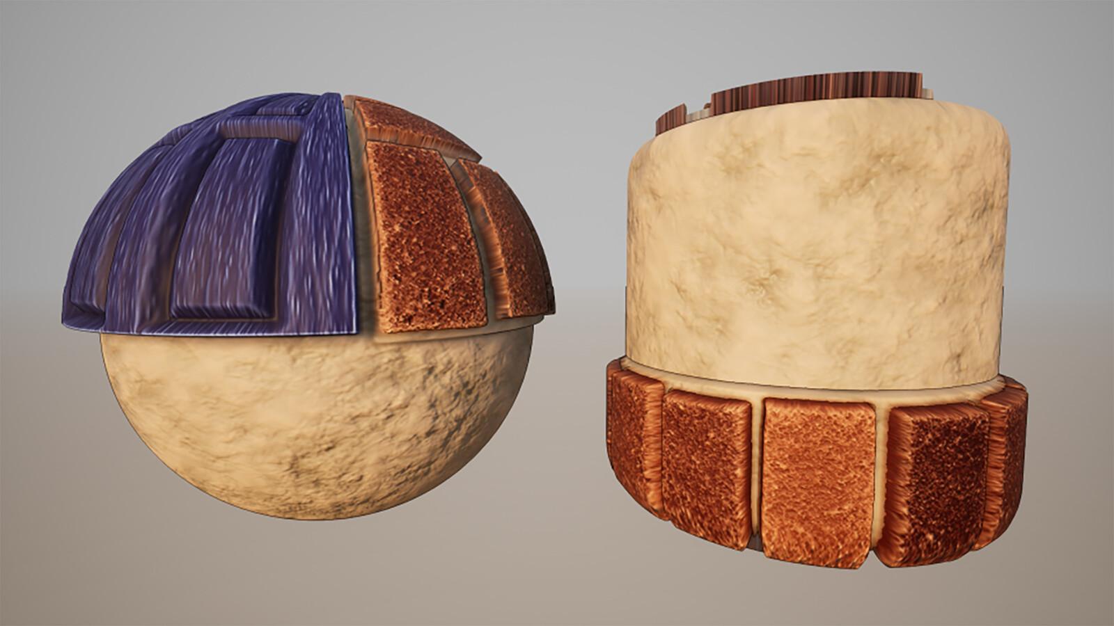 Top and Bottom Halves of Front Steps/Door Trim Material