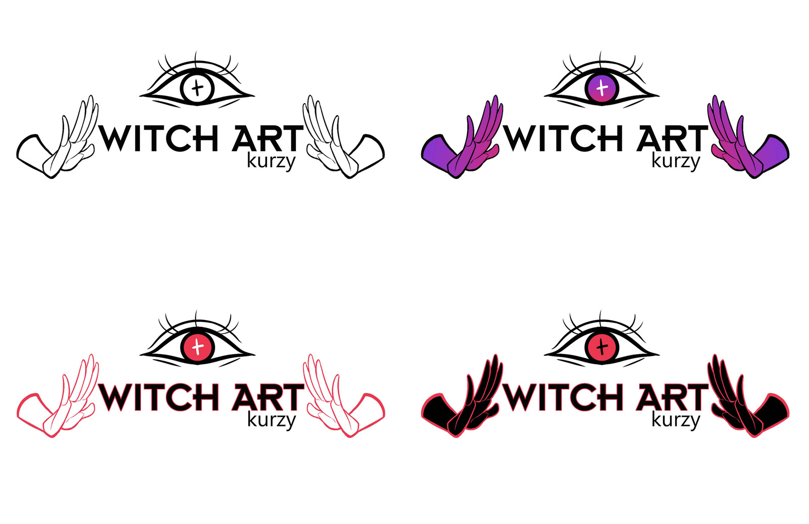Logo colour variations before the final one was decided