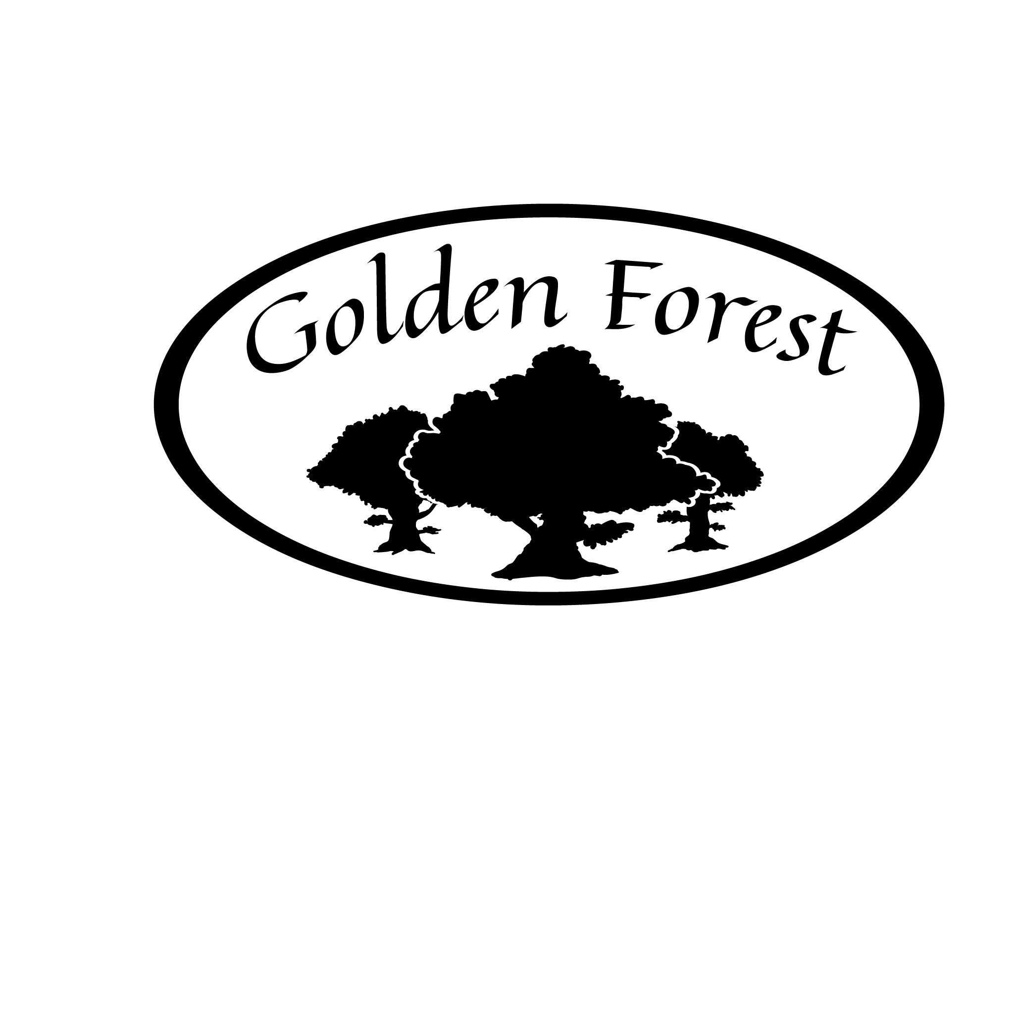 Golden Forest Logo - B&W