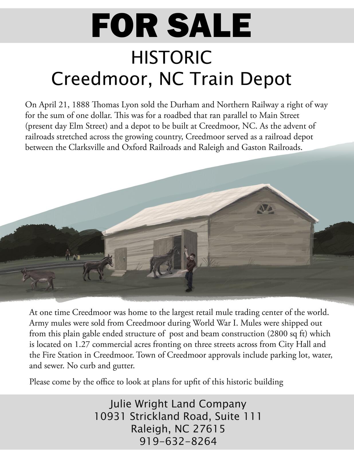 Creedmoor Train Depot Flier