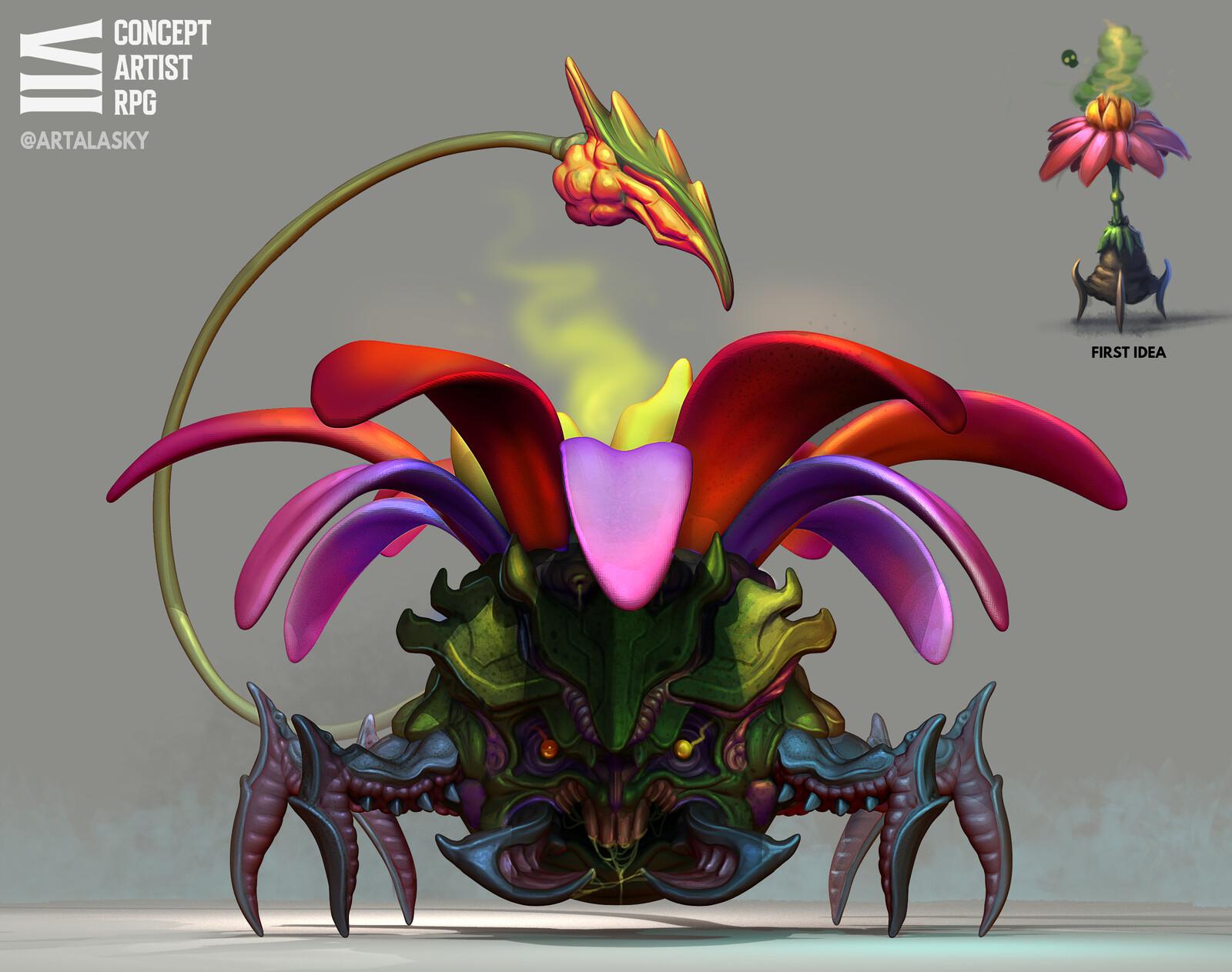 First idea & Final creature :D