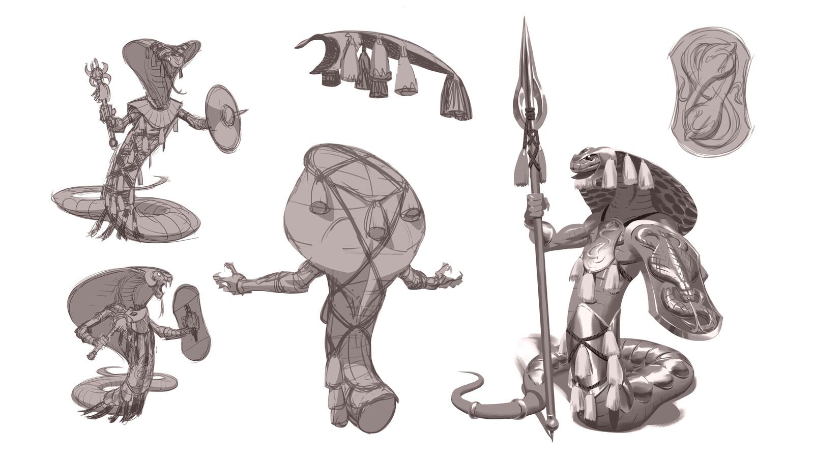 Lizardmen Concepts - Snakes