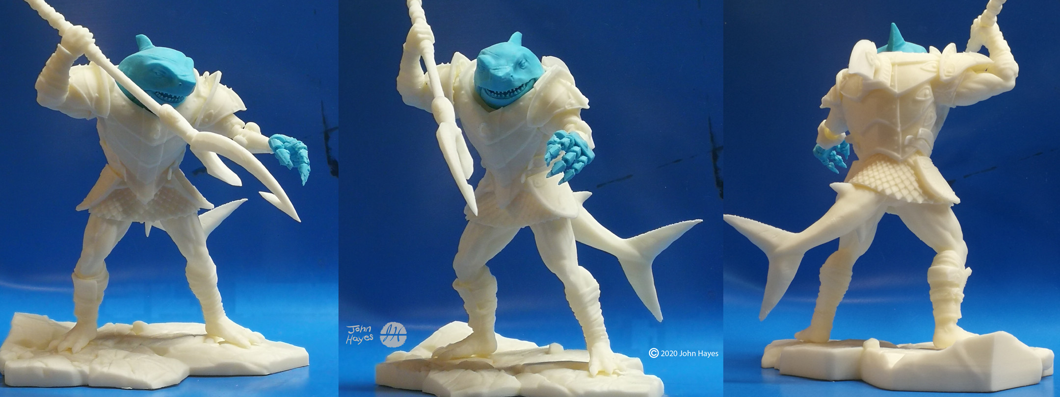"""3D print  """"test"""" using my Ultimaker 2+ with ABS filament  Assembled figure is ~ 23cm tall"""