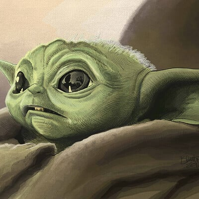 Jerry bennett baby yoda lo res 11x14
