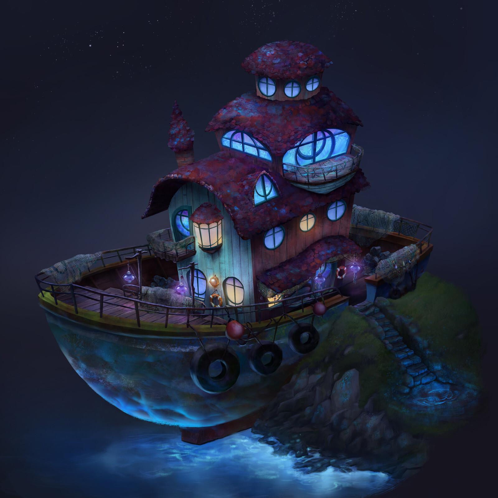 Eila's house: night version