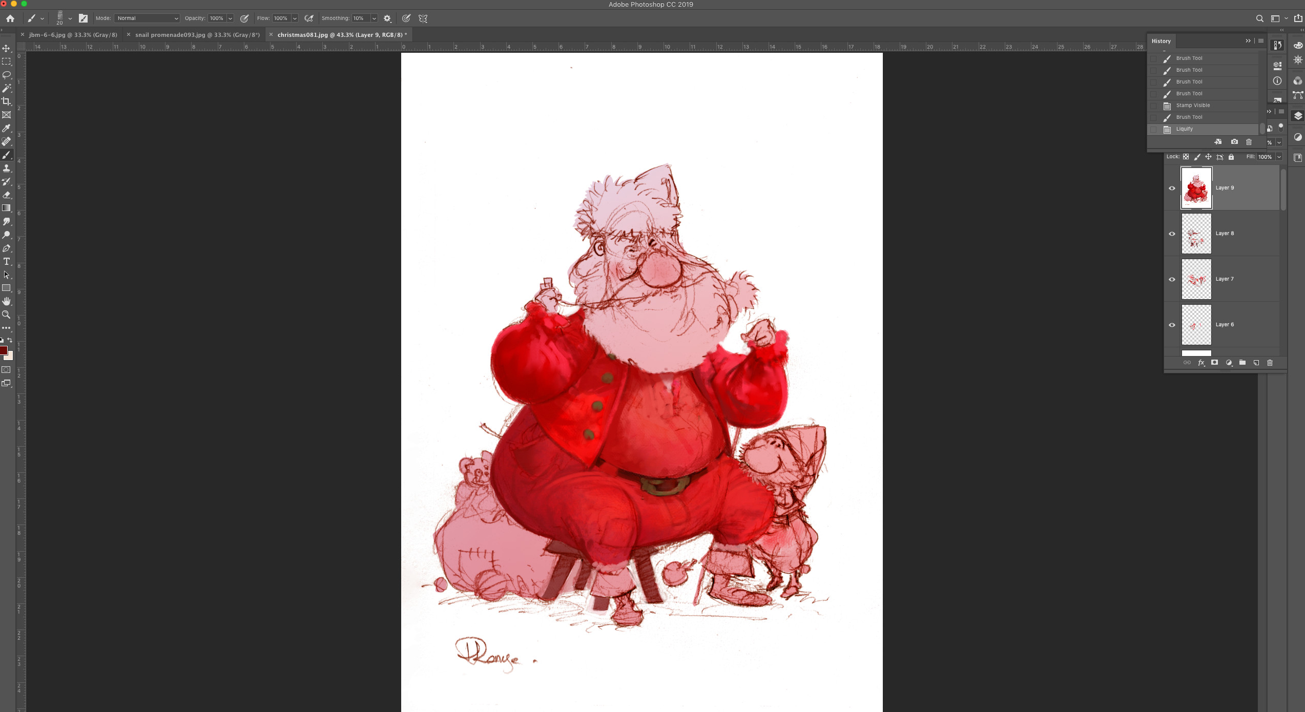 All in red is too much even for a Santa Klaus