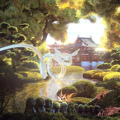 Gokuraku (極楽): Byodoin Phoenix Hall (平等院鳳凰堂)