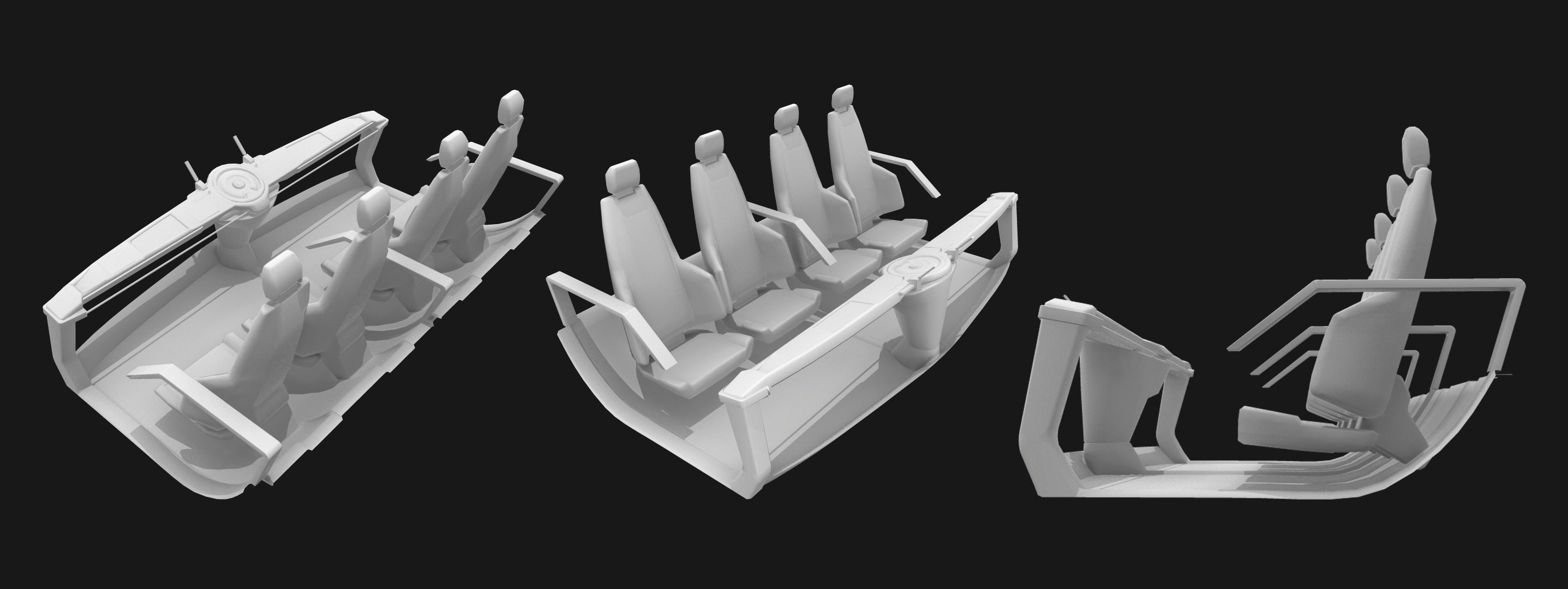 prototyped the seats and main console for the players