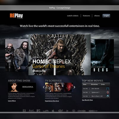 The concept of streaming video services like Netflix, something I made 5 years ago.