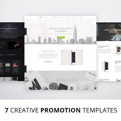 Designs of promotional screens for Themeforest premium theme that I made.