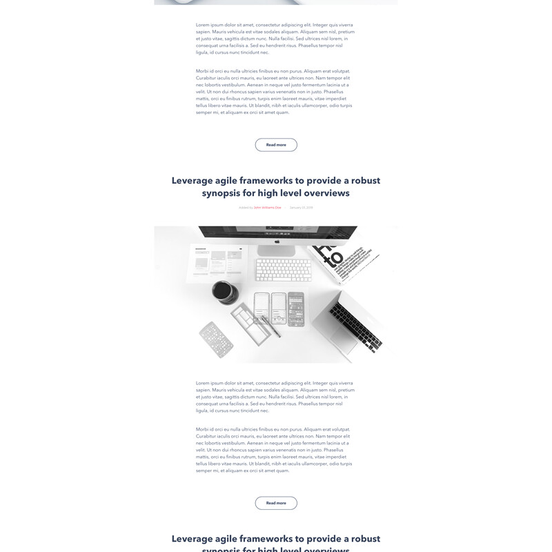 TwiConnect blog page and blog single page UI and UX design