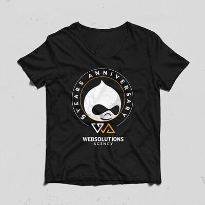 T-shirts design for 5th company anniversary V2