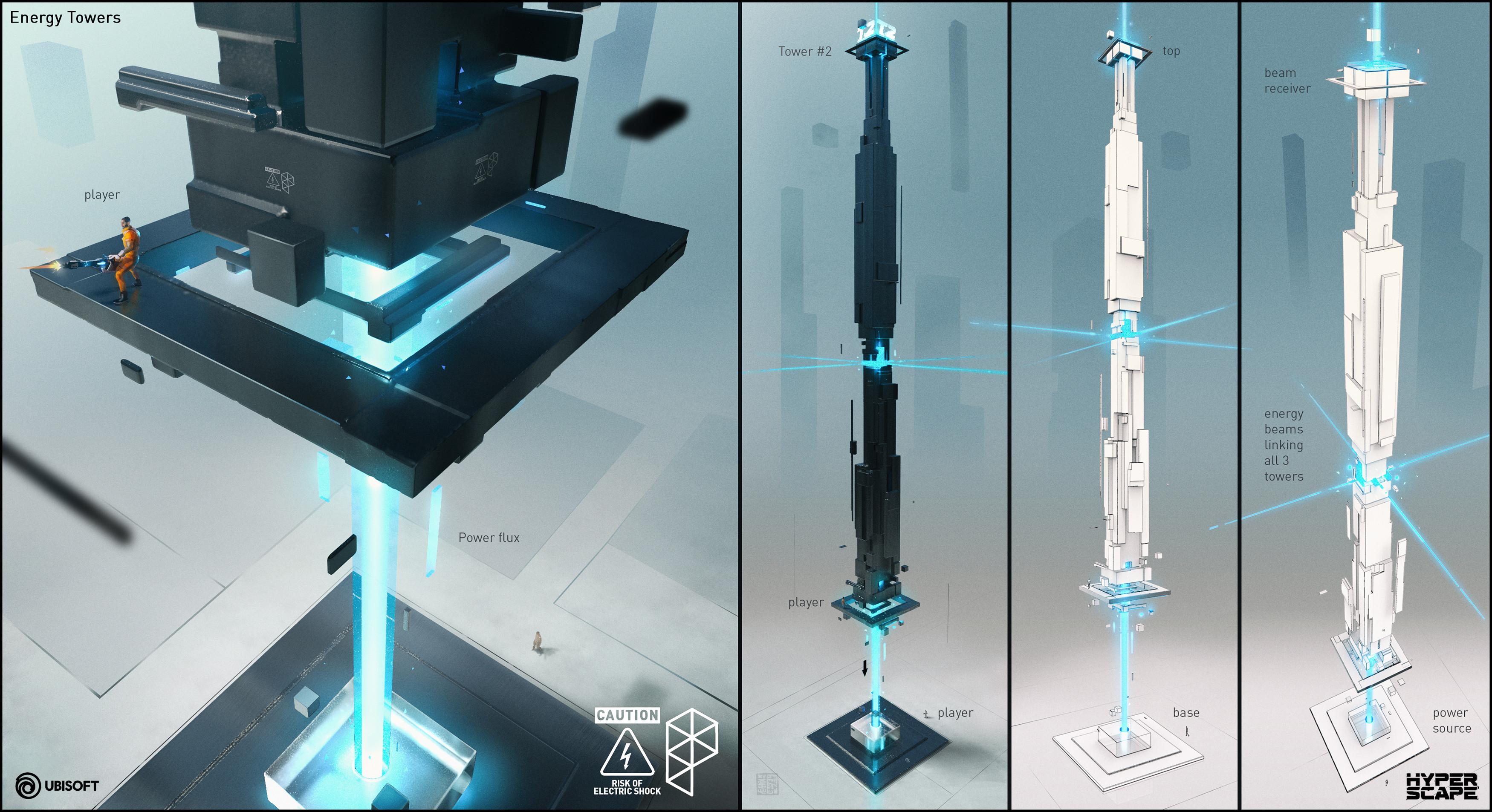 3D coat + Keyshot toon render for some energy pillars...